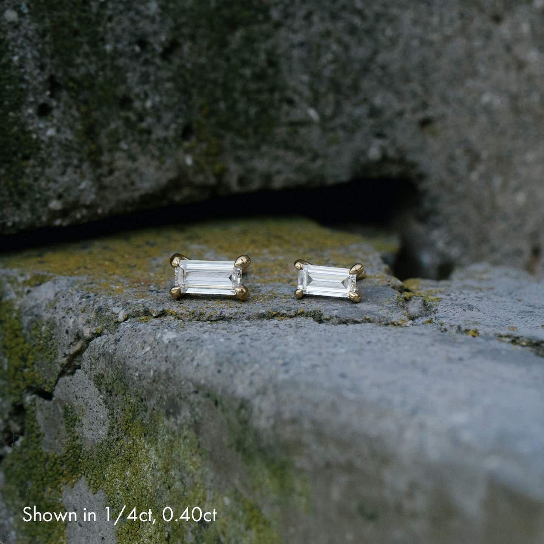 Closeup image of Baguette Studs