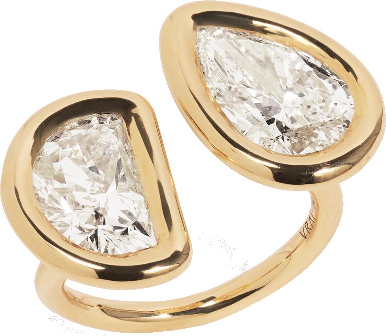 Toi / Moi Diamond Cuff Ring