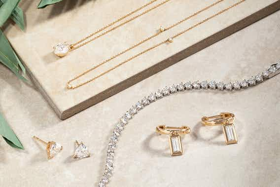 necklaces, earrings, bracelets