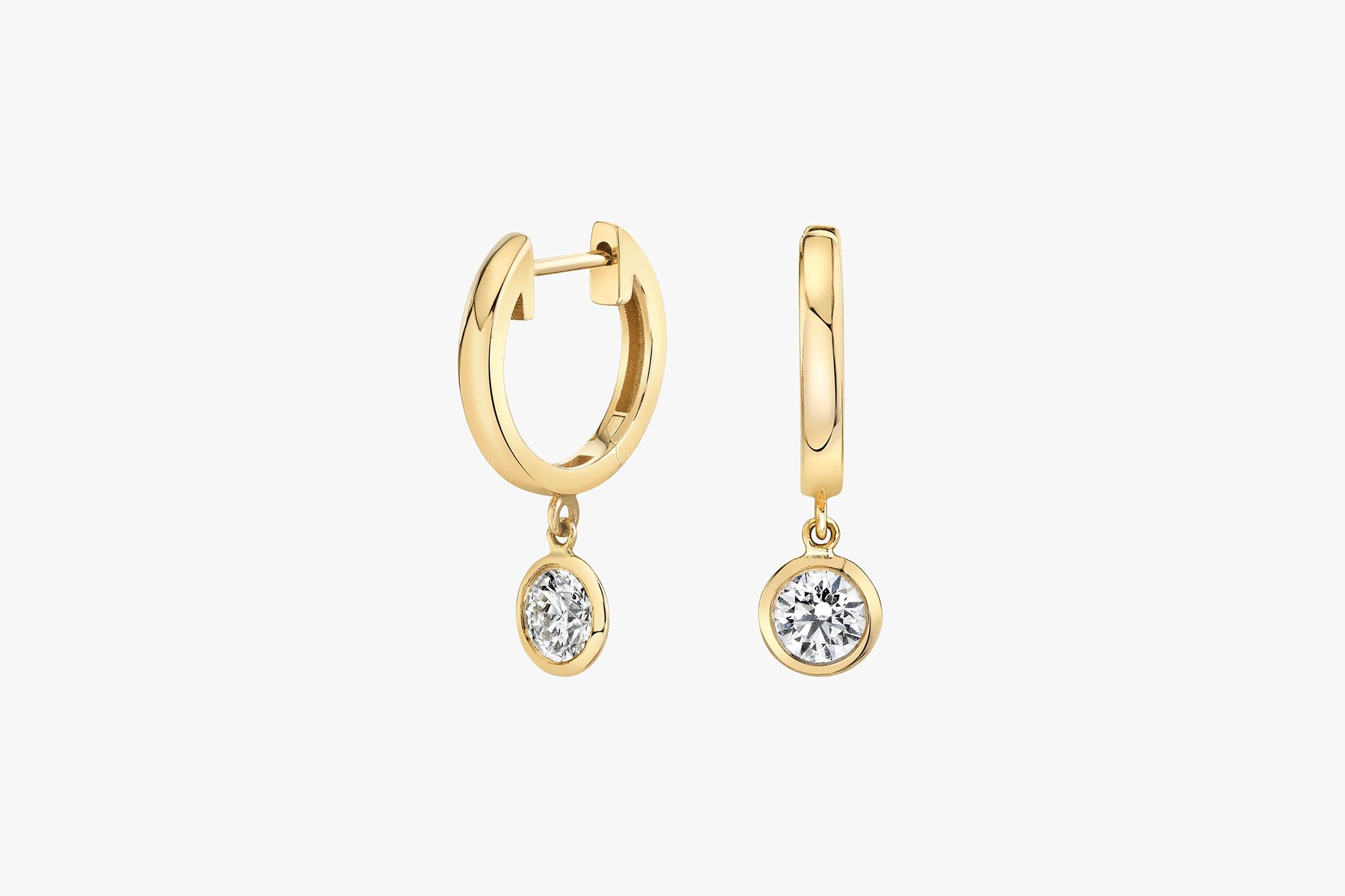 Round Brilliant, Lab-grown diamonds, yellow gold