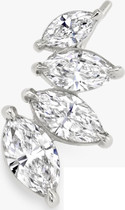 4-Diamond Marquise Ear Arc WG