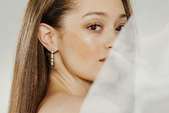 earrings, lab-grown diamonds