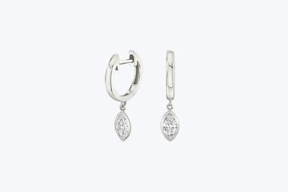 bridal jewelry, white gold, lab-grown diamond earrings