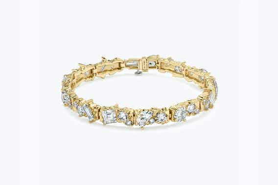 bridal jewelry, unisex bridal jewelry, lab-grown diamonds, yellow gold