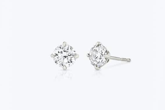 bridal jewelry, lab-grown diamond earrings
