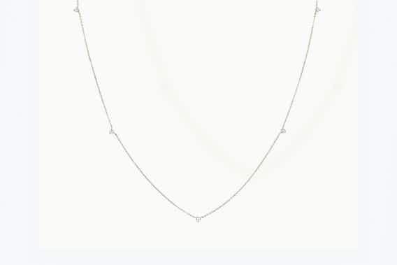 Tiny Station Necklace