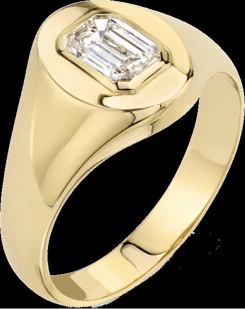 Emerald Signet Ring