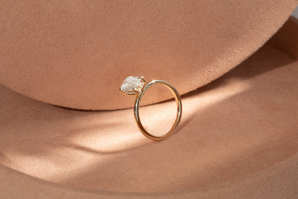 The Hidden Halo engagement ring
