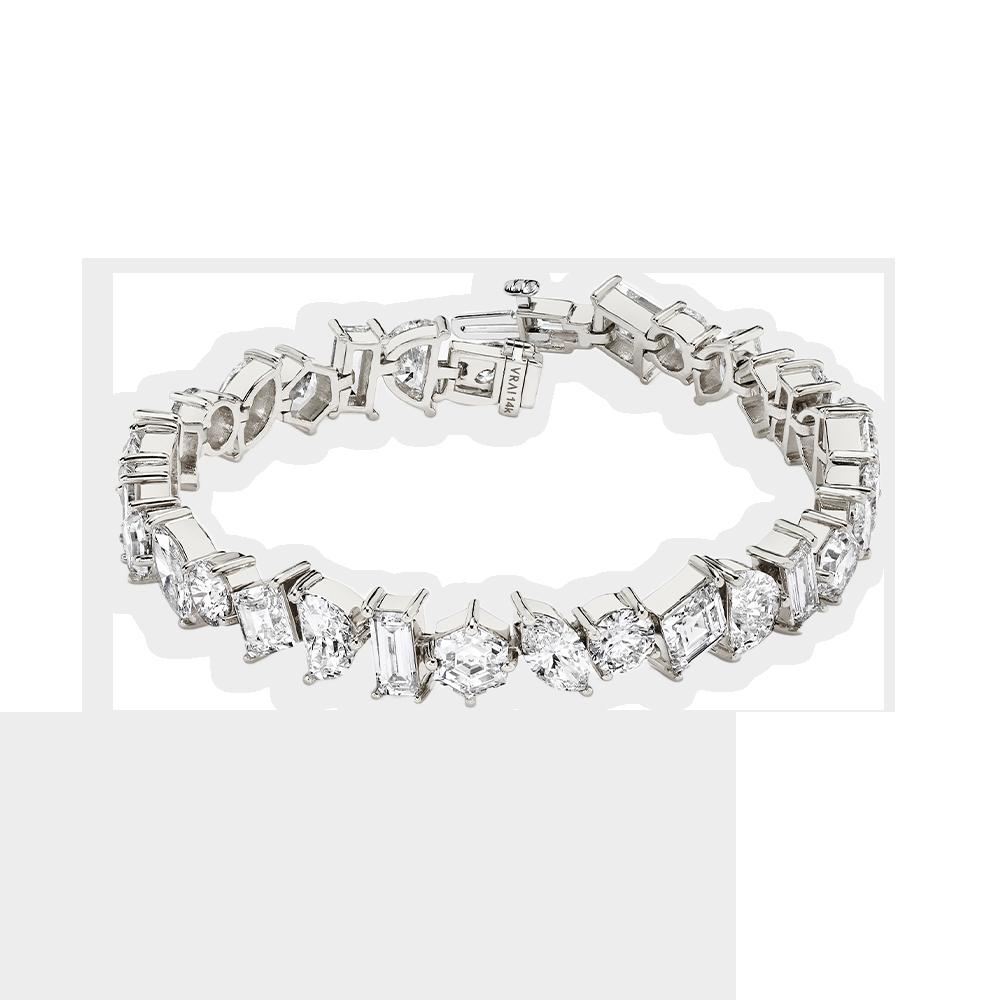 Illuminate bracelet white gold