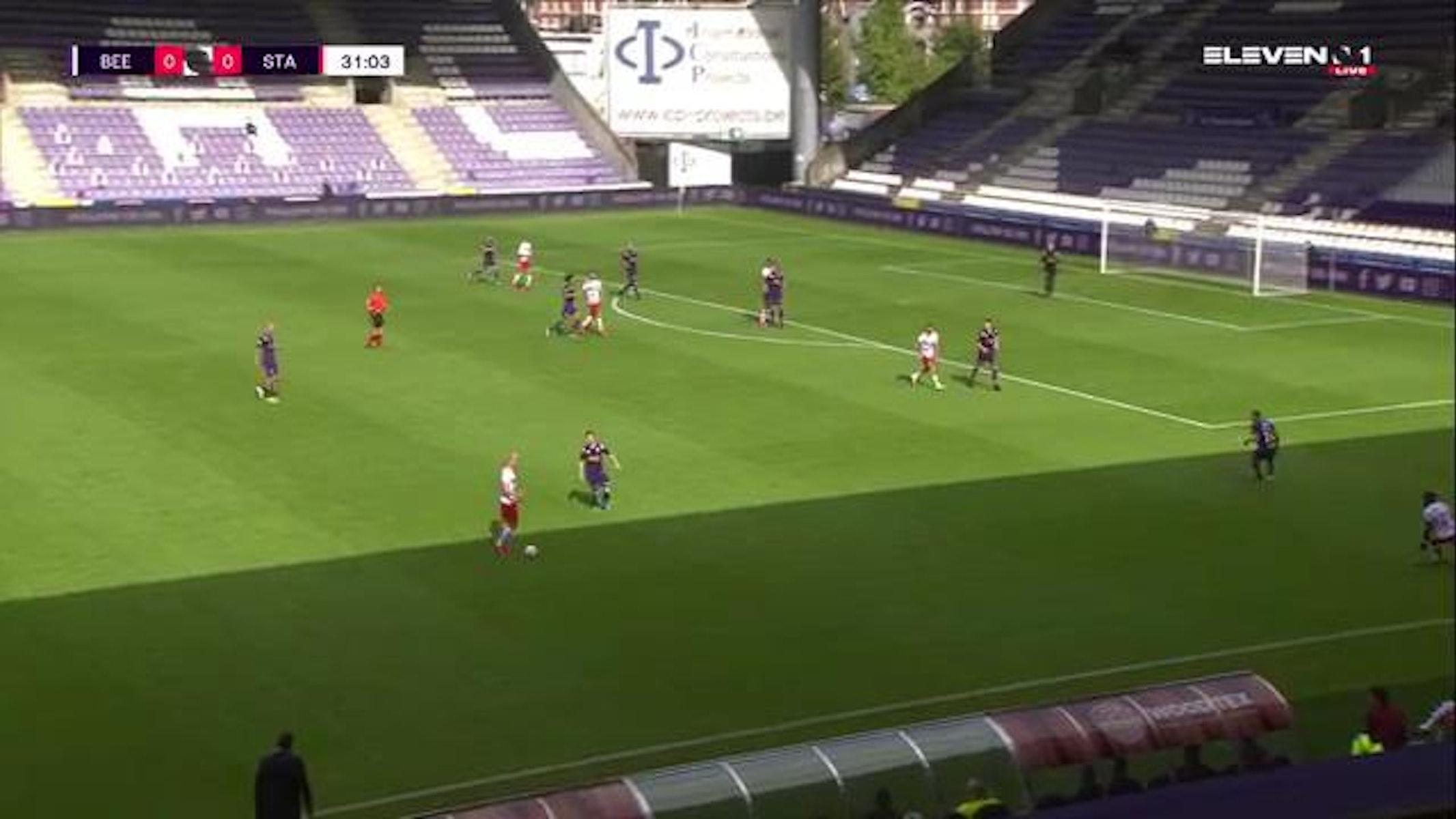 Doelpunt Felipe Avenatti (K. Beerschot V.A. vs. Standard de Liège)
