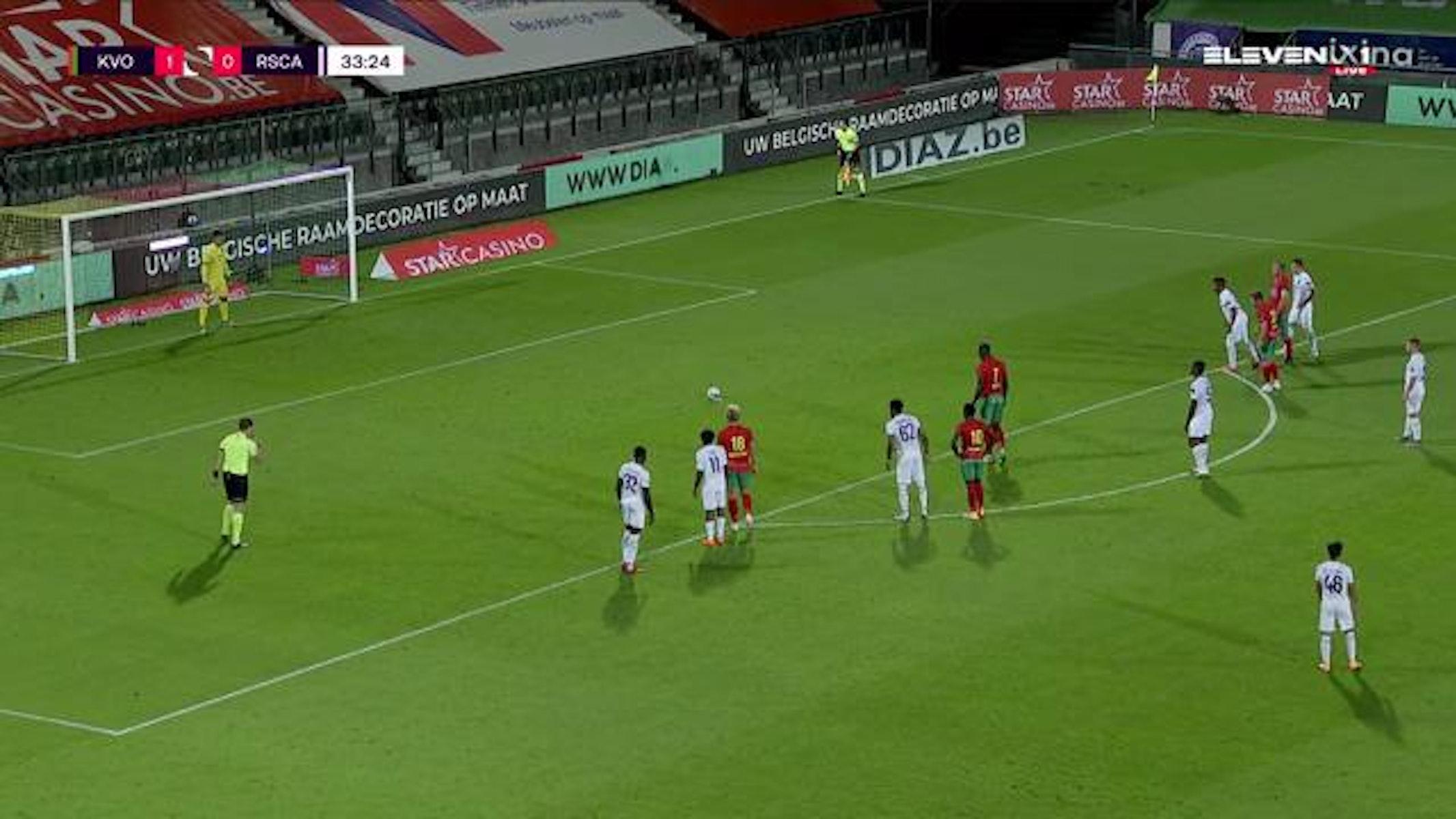 Doelpunt Makhtar Gueye (KV Oostende vs. RSC Anderlecht)