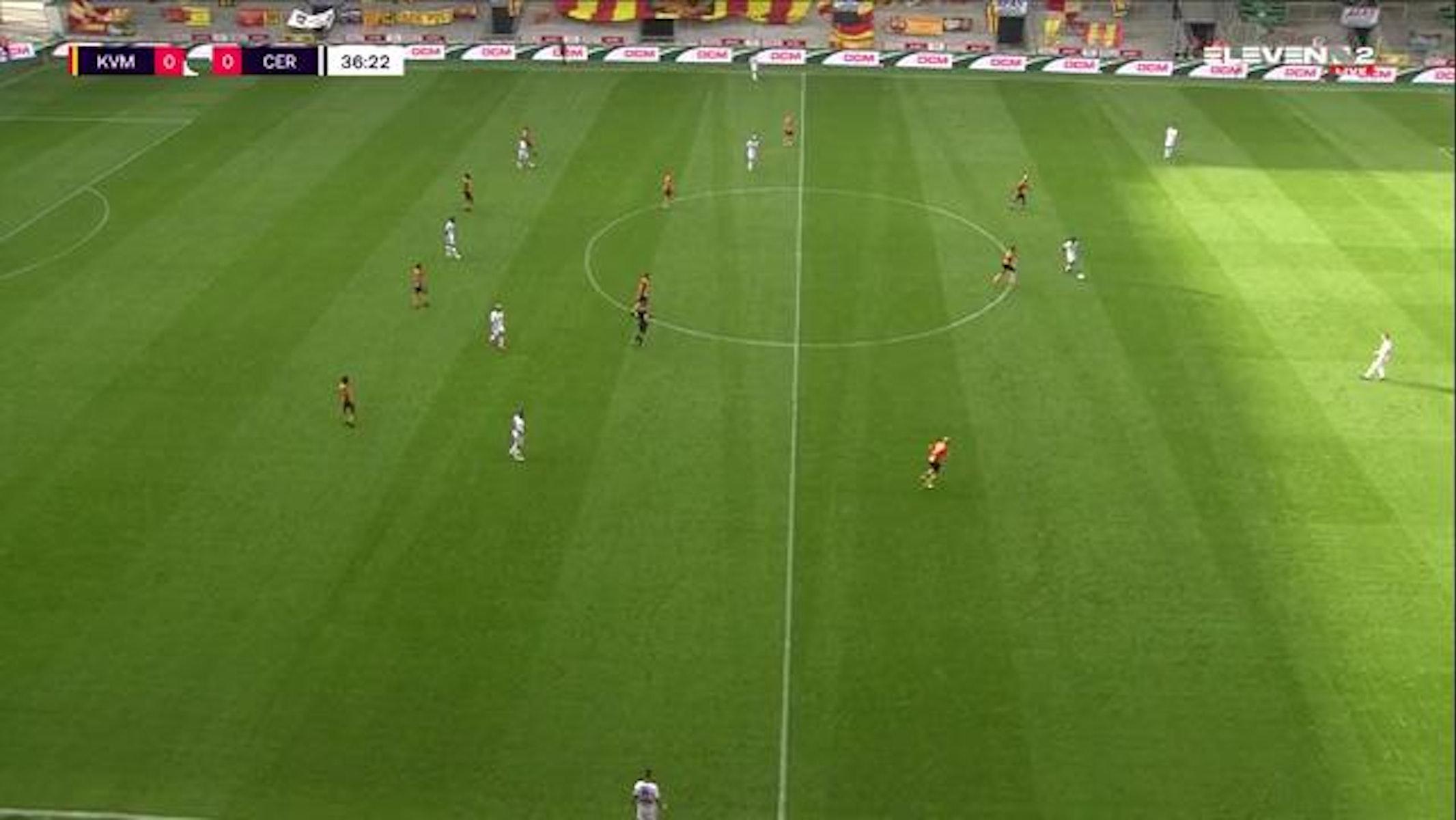 Doelpunt William Togui (KV Mechelen vs. Cercle Brugge)
