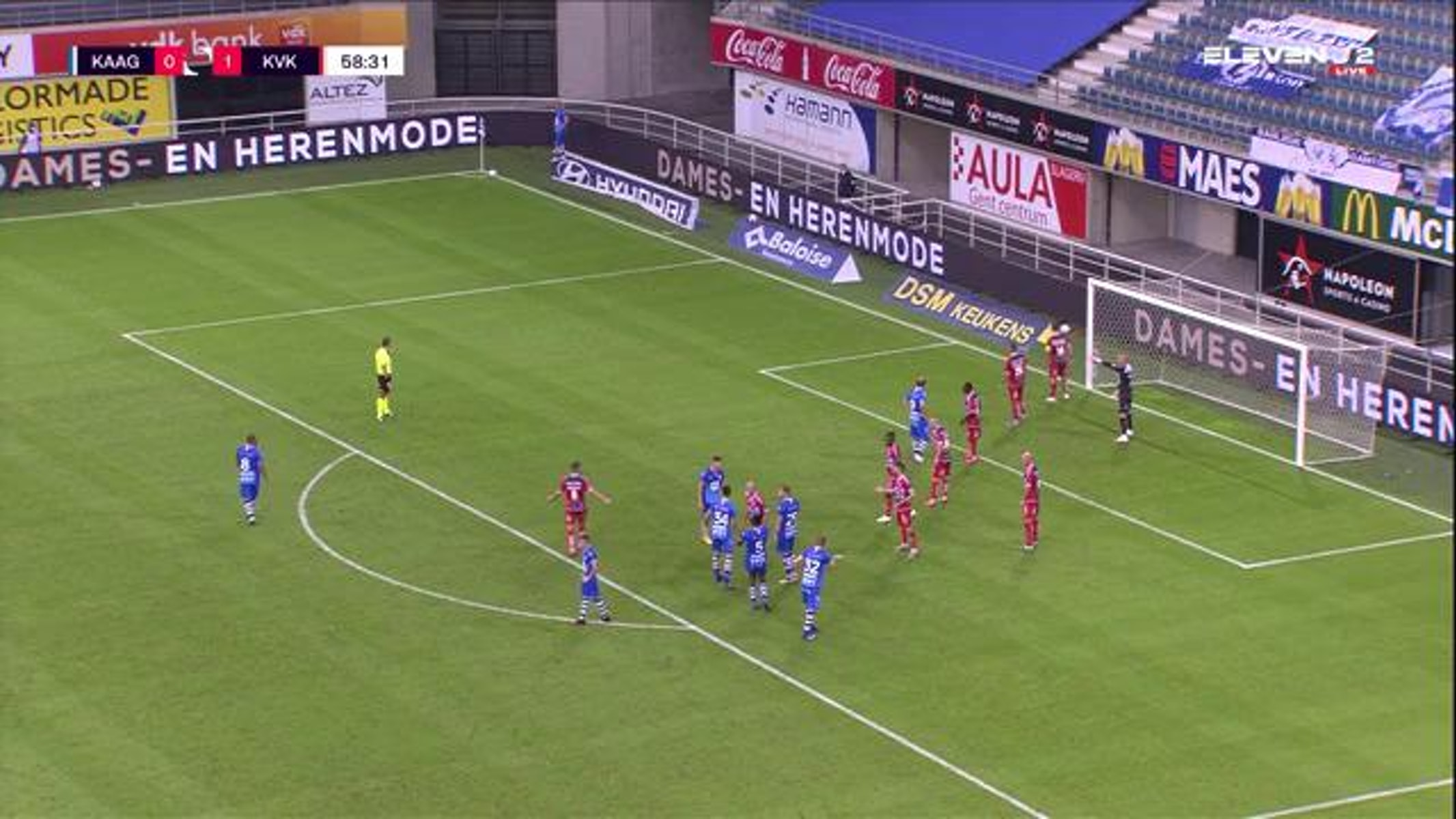 Doelpunt Igor Plastun (KAA Gent vs. KV Kortrijk)