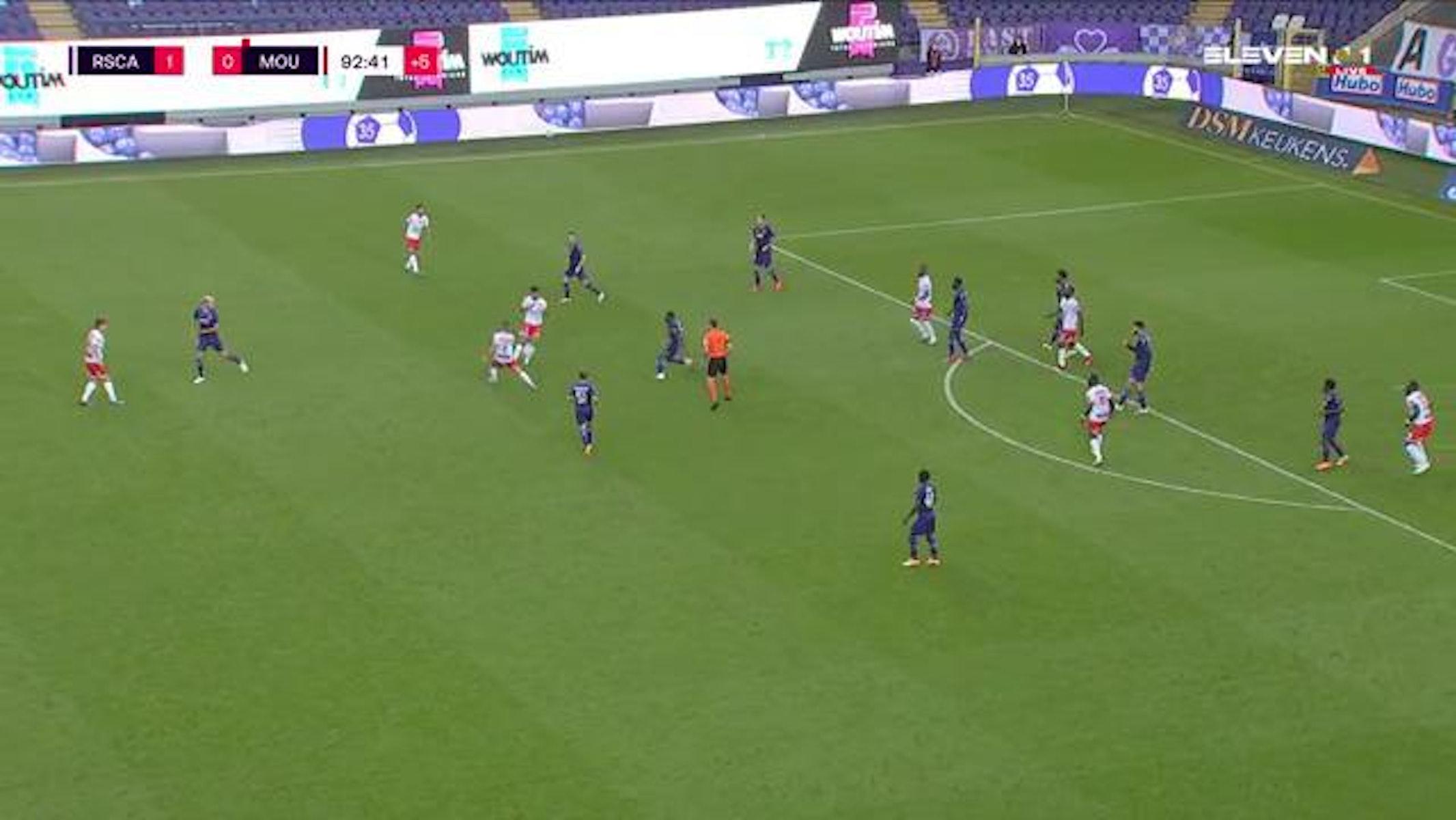 Doelpunt Harlem-Eddy Gnohere (RSC Anderlecht vs. Royal Excel Mouscron)