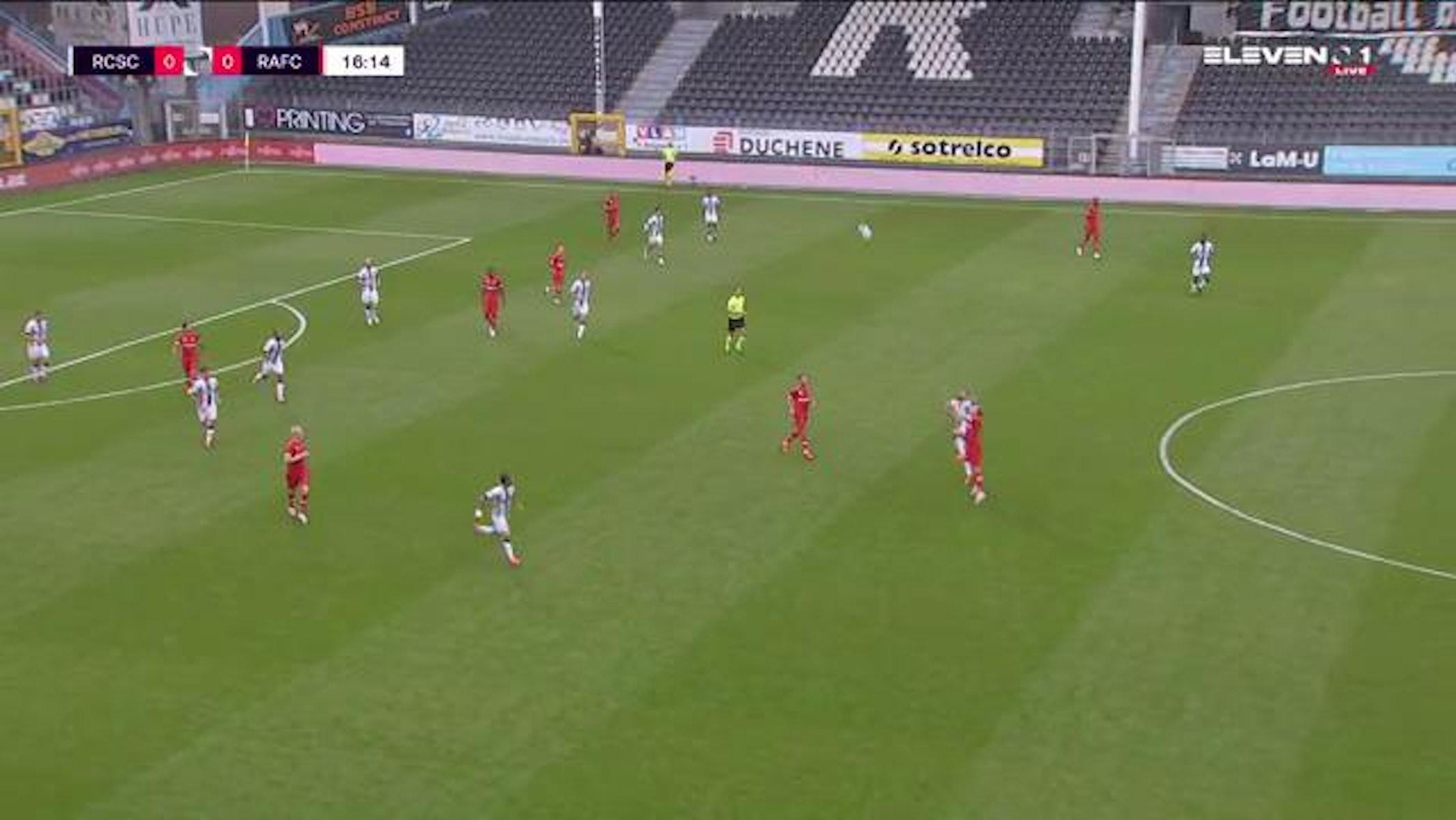Doelpunt Shamar Nicholson (Sporting Charleroi vs. Royal Antwerp FC)