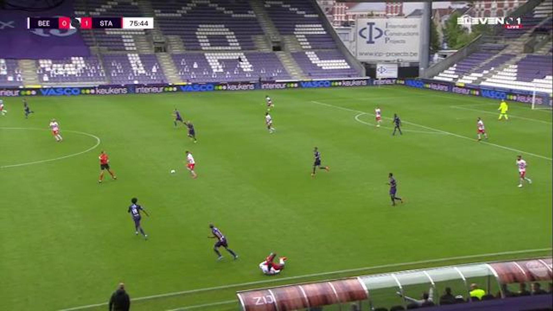 Doelpunt Maxime Lestienne (K. Beerschot V.A. vs. Standard de Liège)