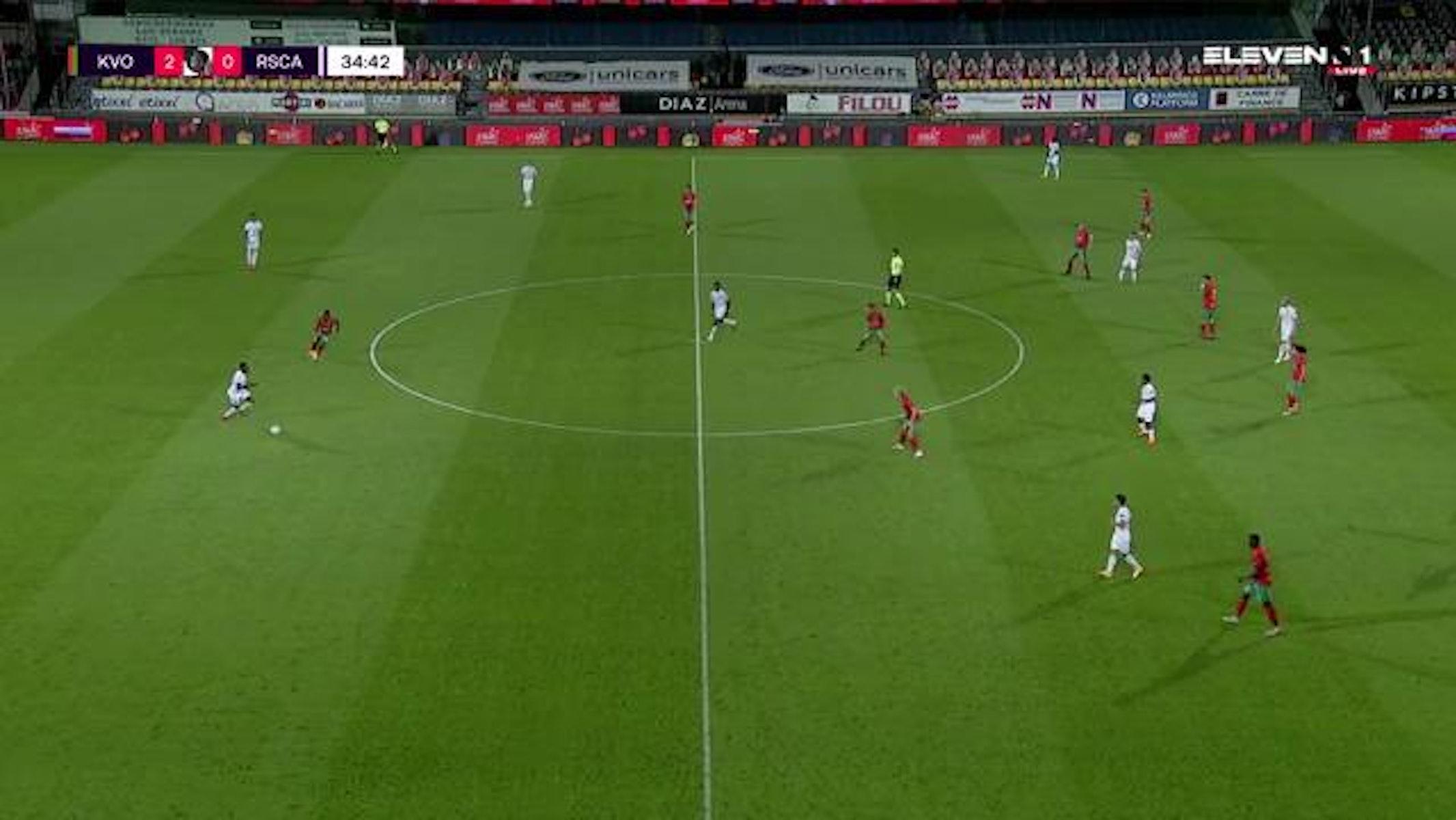 Doelpunt Adrien Trebel (KV Oostende vs. RSC Anderlecht)