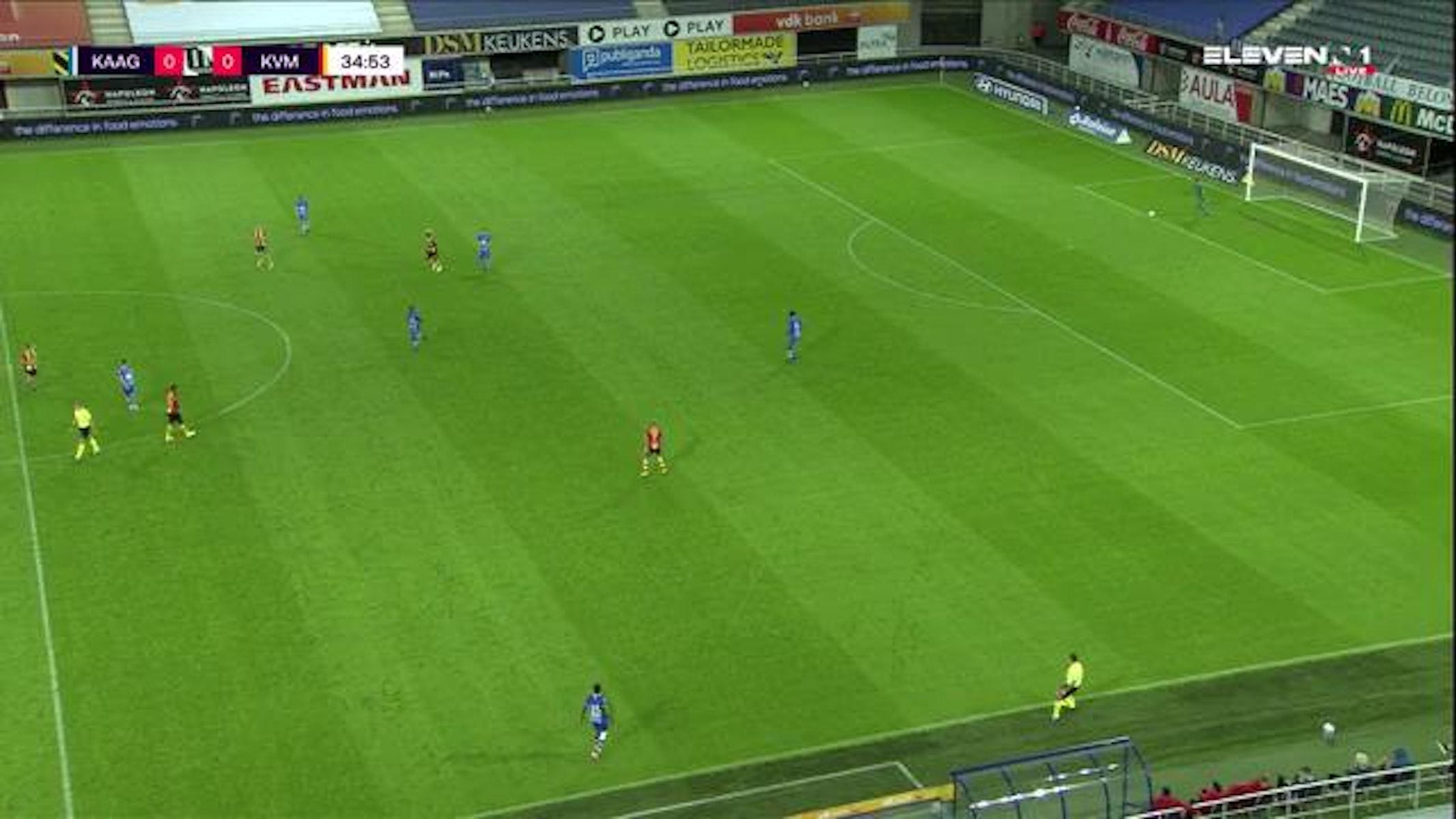 Doelpunt Dogbole Niangbo (KAA Gent vs. KV Mechelen)
