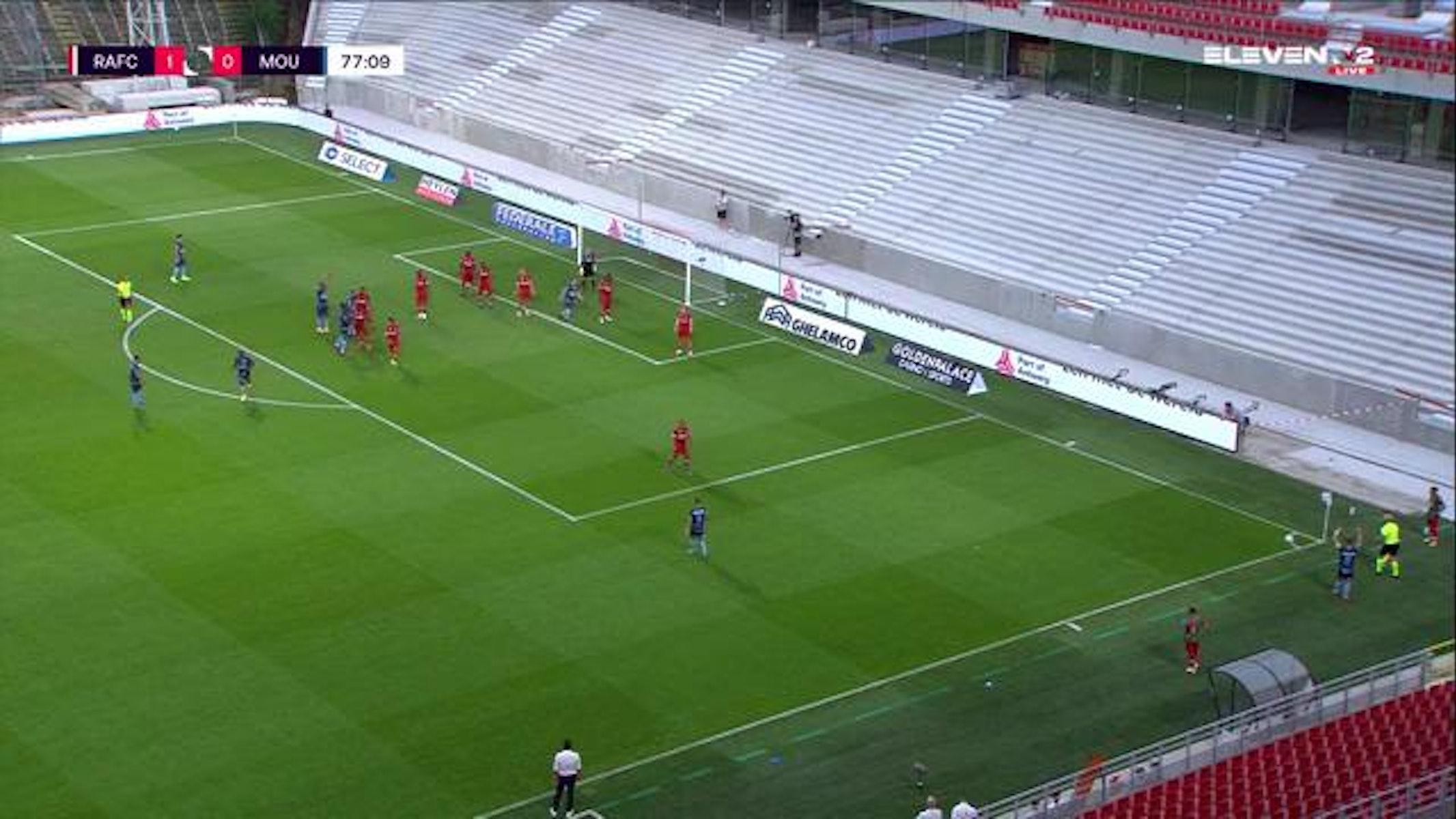 Doelpunt Marko Bakic (Royal Antwerp FC vs. Royal Excel Mouscron)