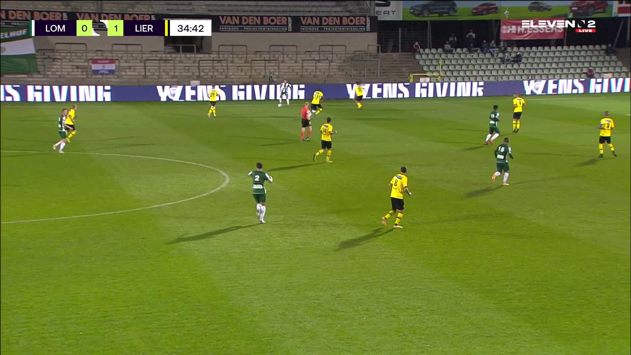 Doelpunt Manfred Ugalde (Lommel SK vs. Lierse K.)