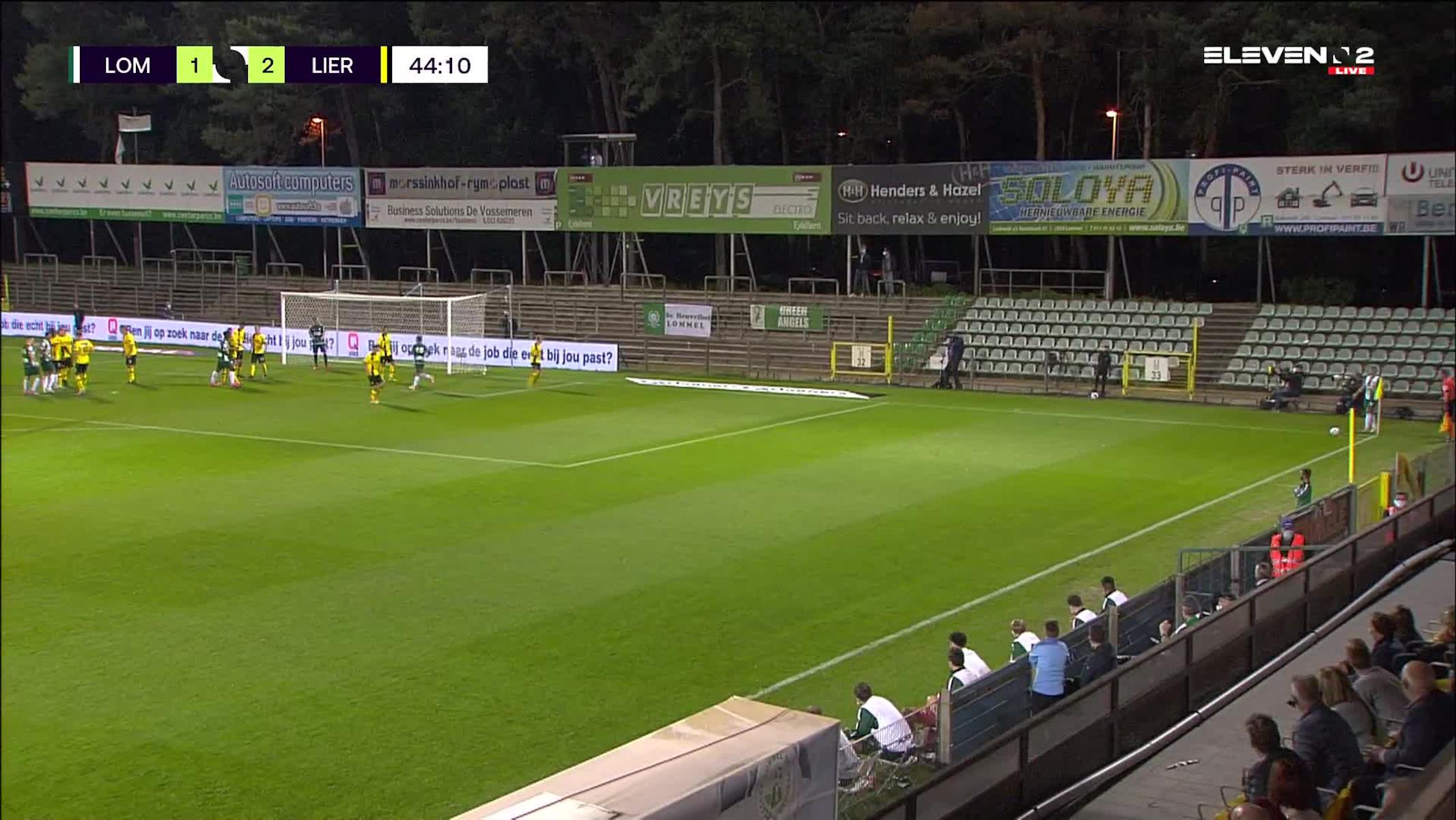 Doelpunt Glenn Neven (Lommel SK vs. Lierse K.)