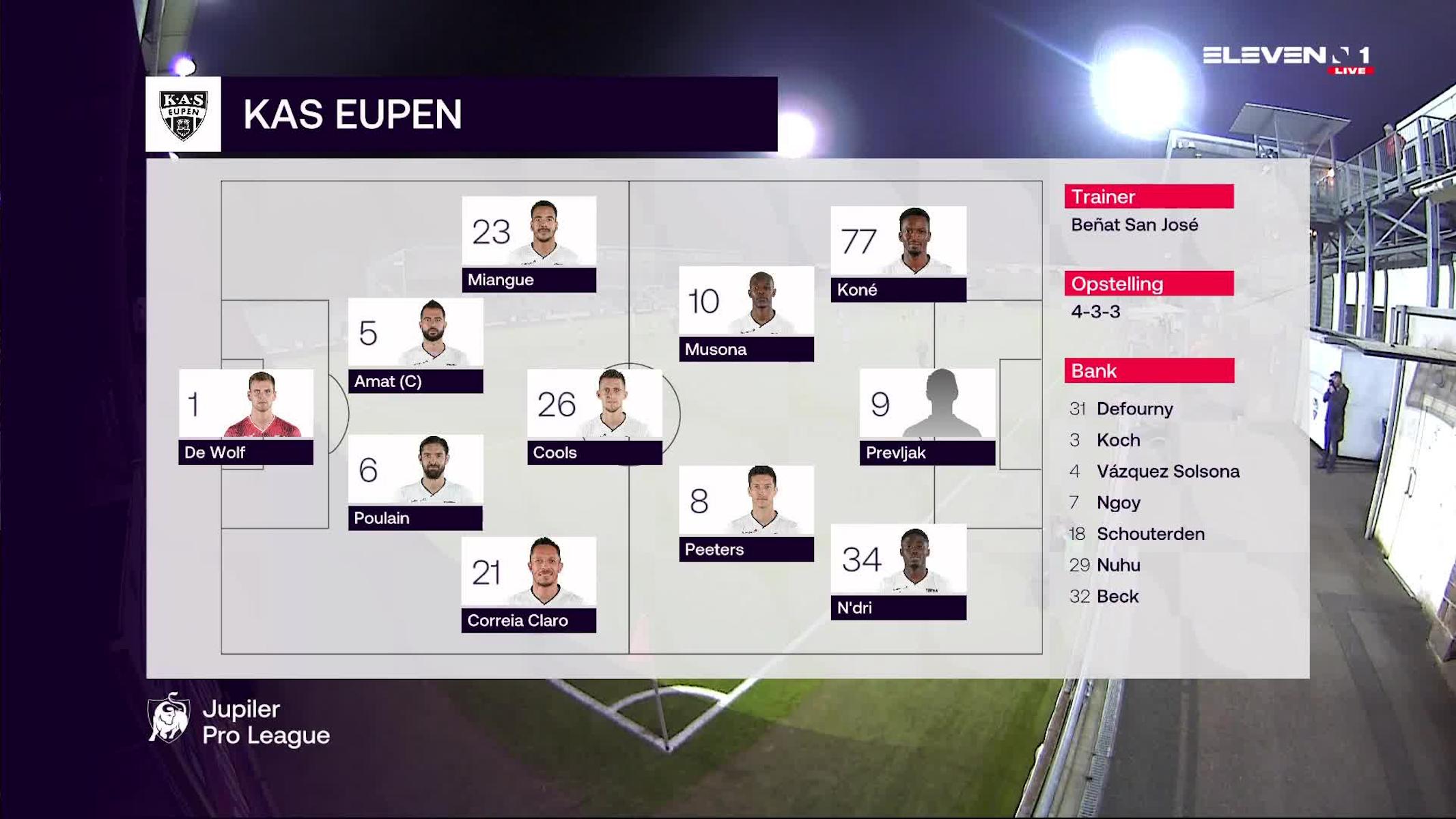 Samenvatting KAS Eupen vs. KAA Gent