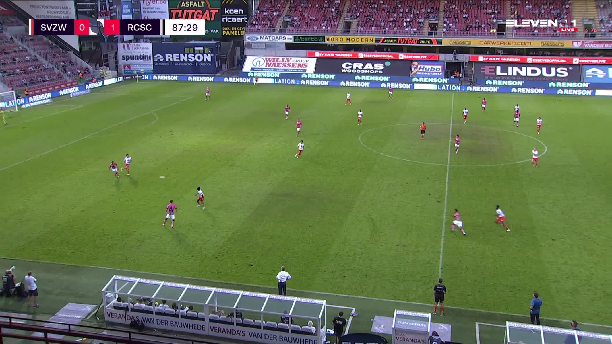 Doelpunt Shamar Nicholson (SV Zulte Waregem vs. Sporting Charleroi)