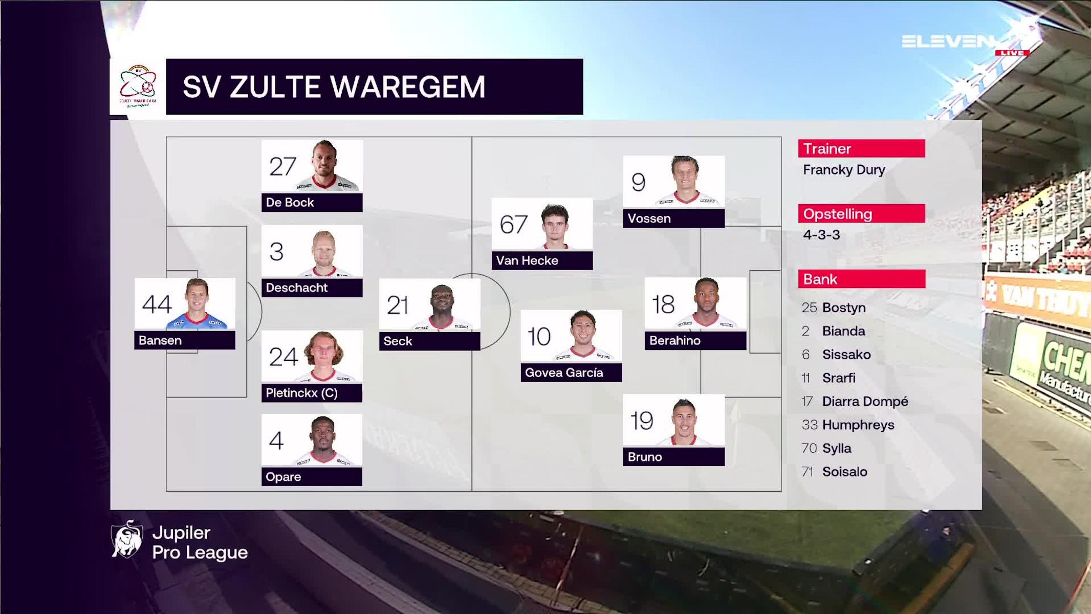 Samenvatting SV Zulte Waregem vs. Sporting Charleroi