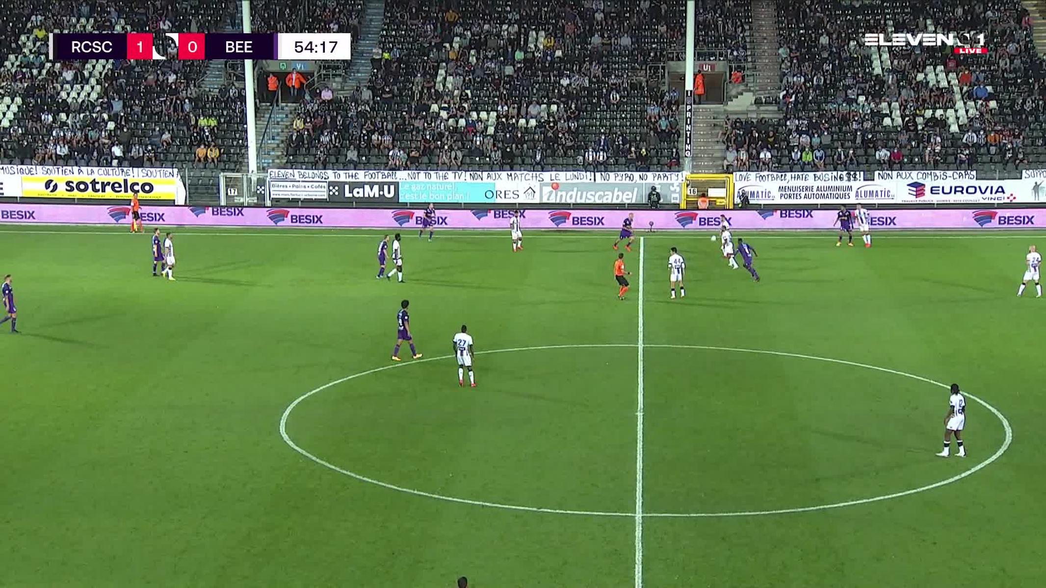 Doelpunt Ali Gholizadeh (Sporting Charleroi vs. K. Beerschot V.A.)