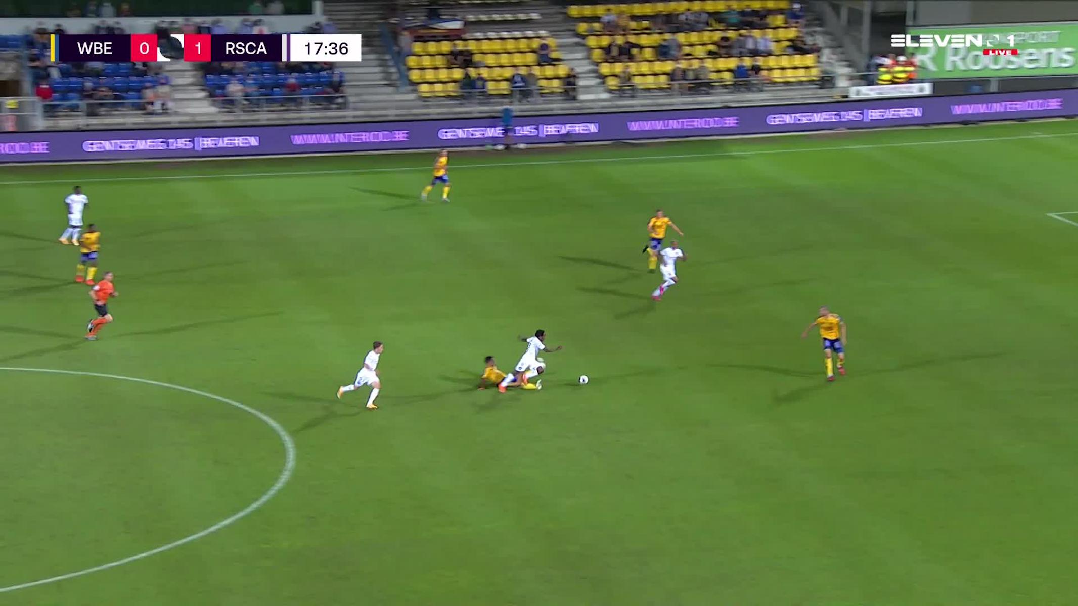 Doelpunt Jeremy Doku (Waasland-Beveren vs. RSC Anderlecht)