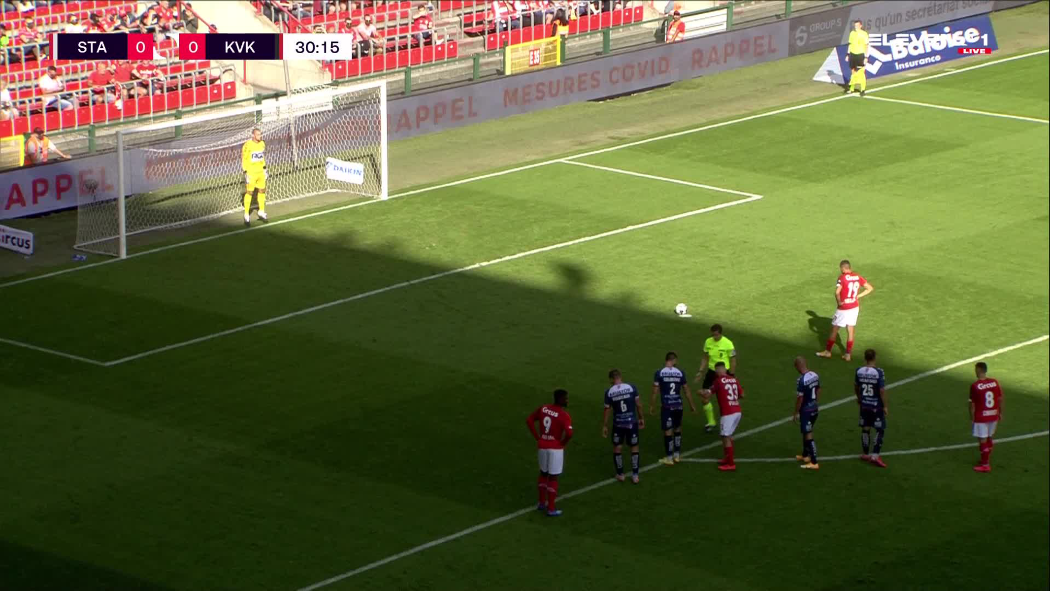 Doelpunt Selim Amallah (Standard de Liège vs. KV Kortrijk)