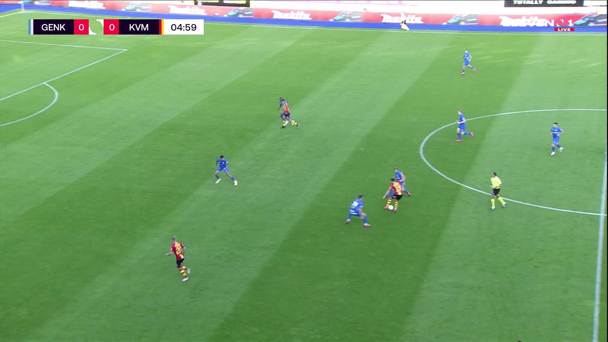 Doelpunt Kerim Mrabti (KRC Genk vs. KV Mechelen)