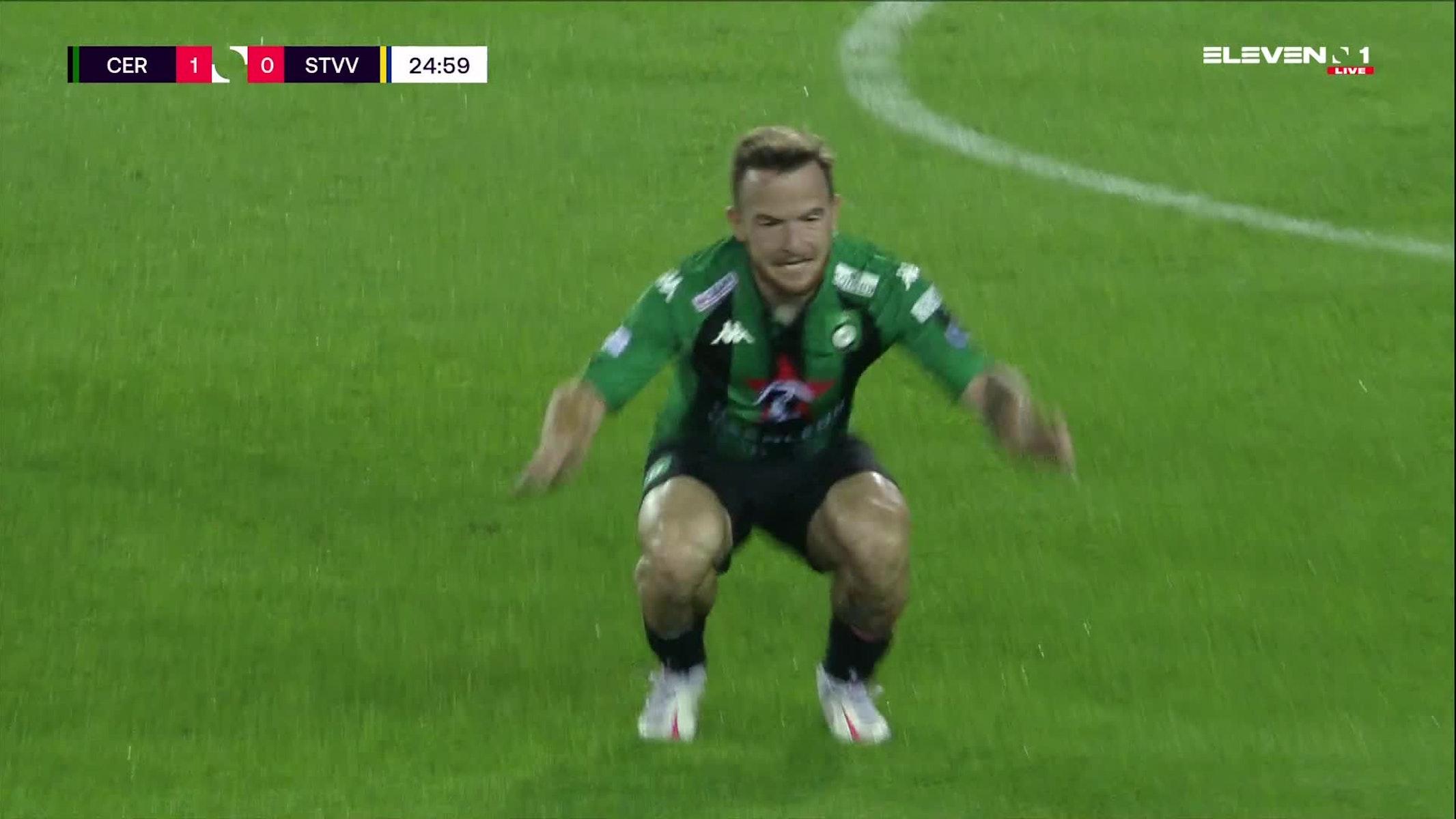 Doelpunt Dino Hotic (Cercle Brugge vs. STVV)