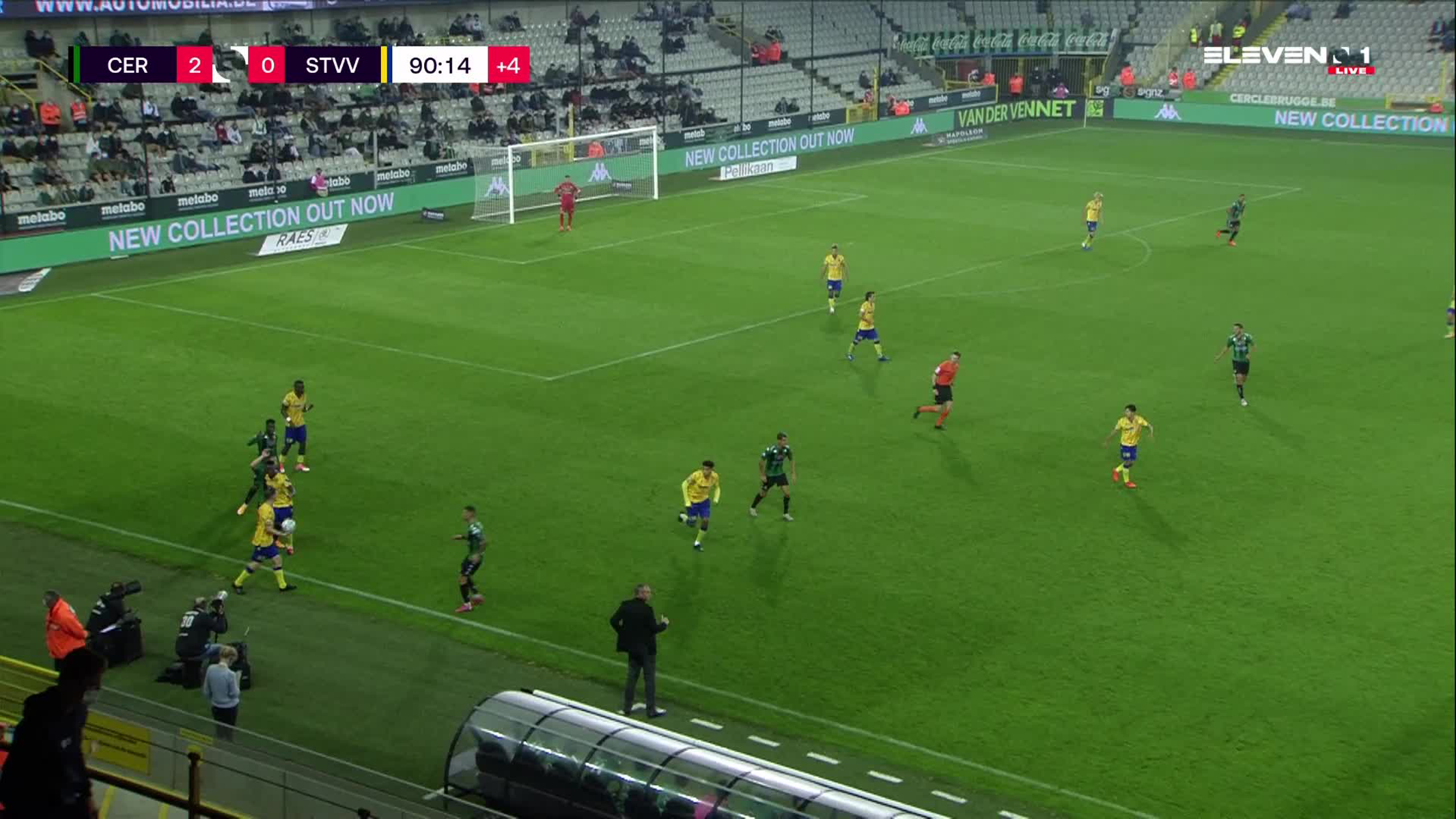 Doelpunt Victor Alexander da Silva (Cercle Brugge vs. STVV)