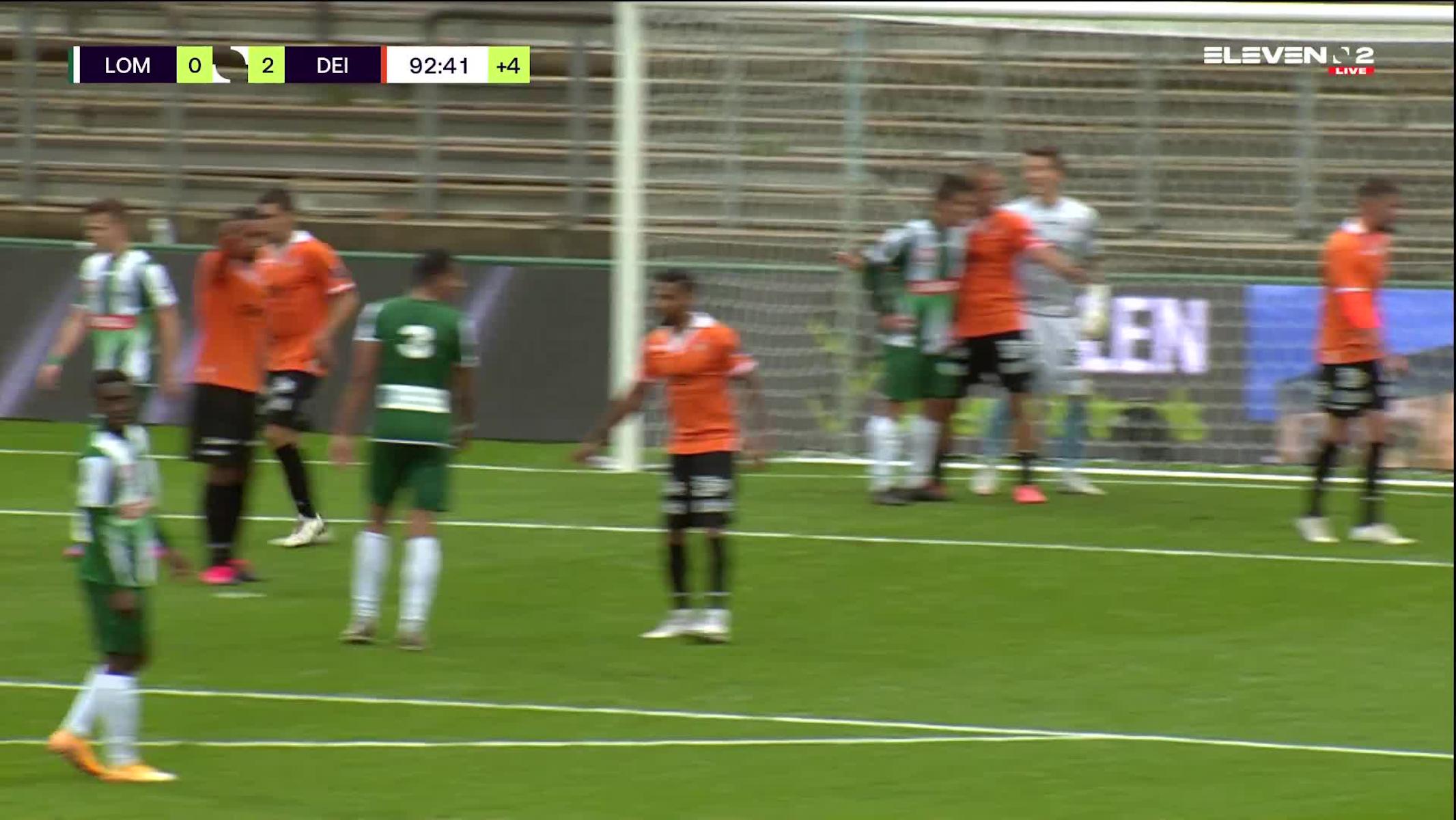 Doelpunt Manfred Ugalde (Lommel SK vs. KMSK Deinze)