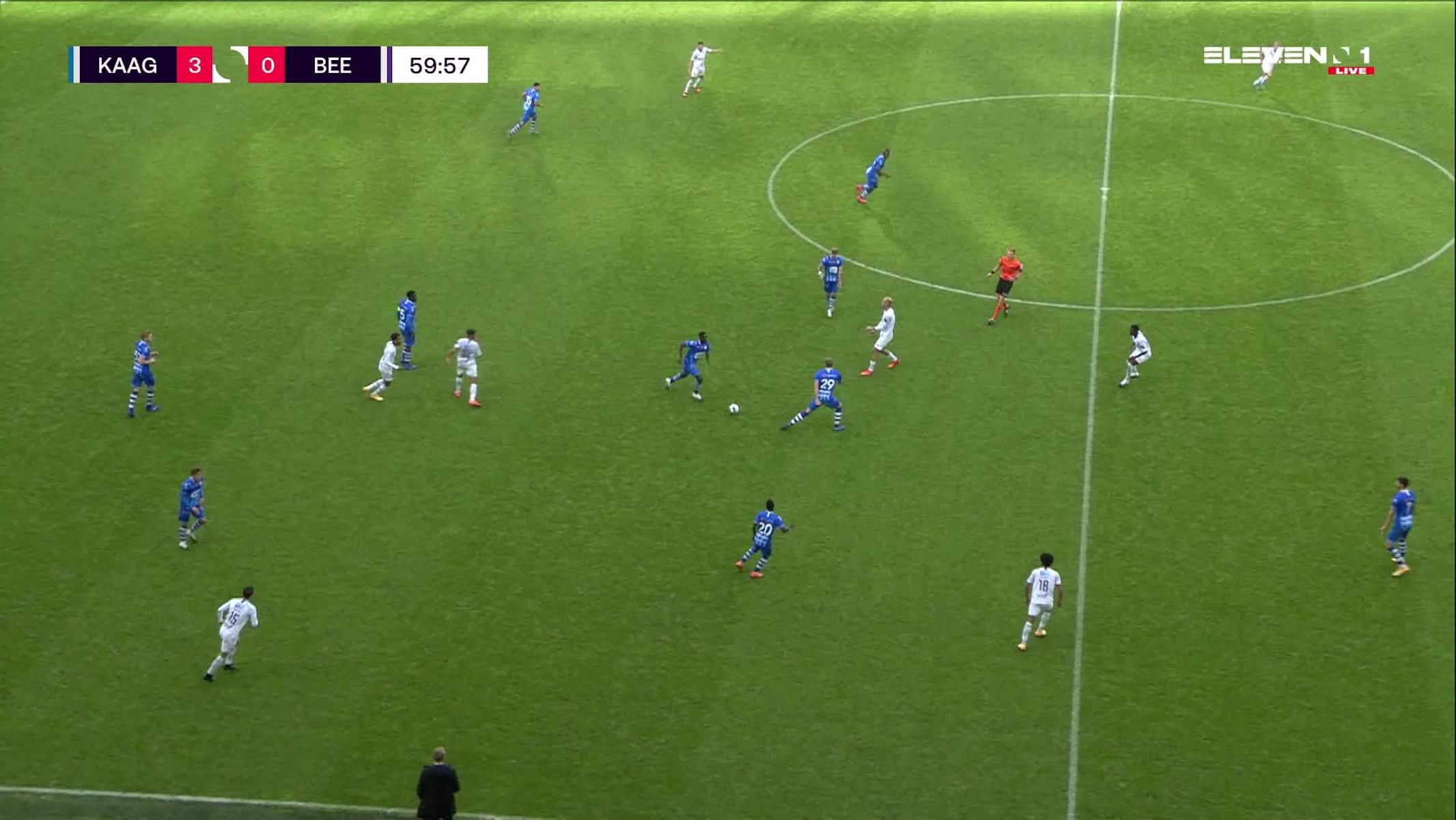 Doelpunt Laurent Depoitre (KAA Gent vs. K. Beerschot V.A.)