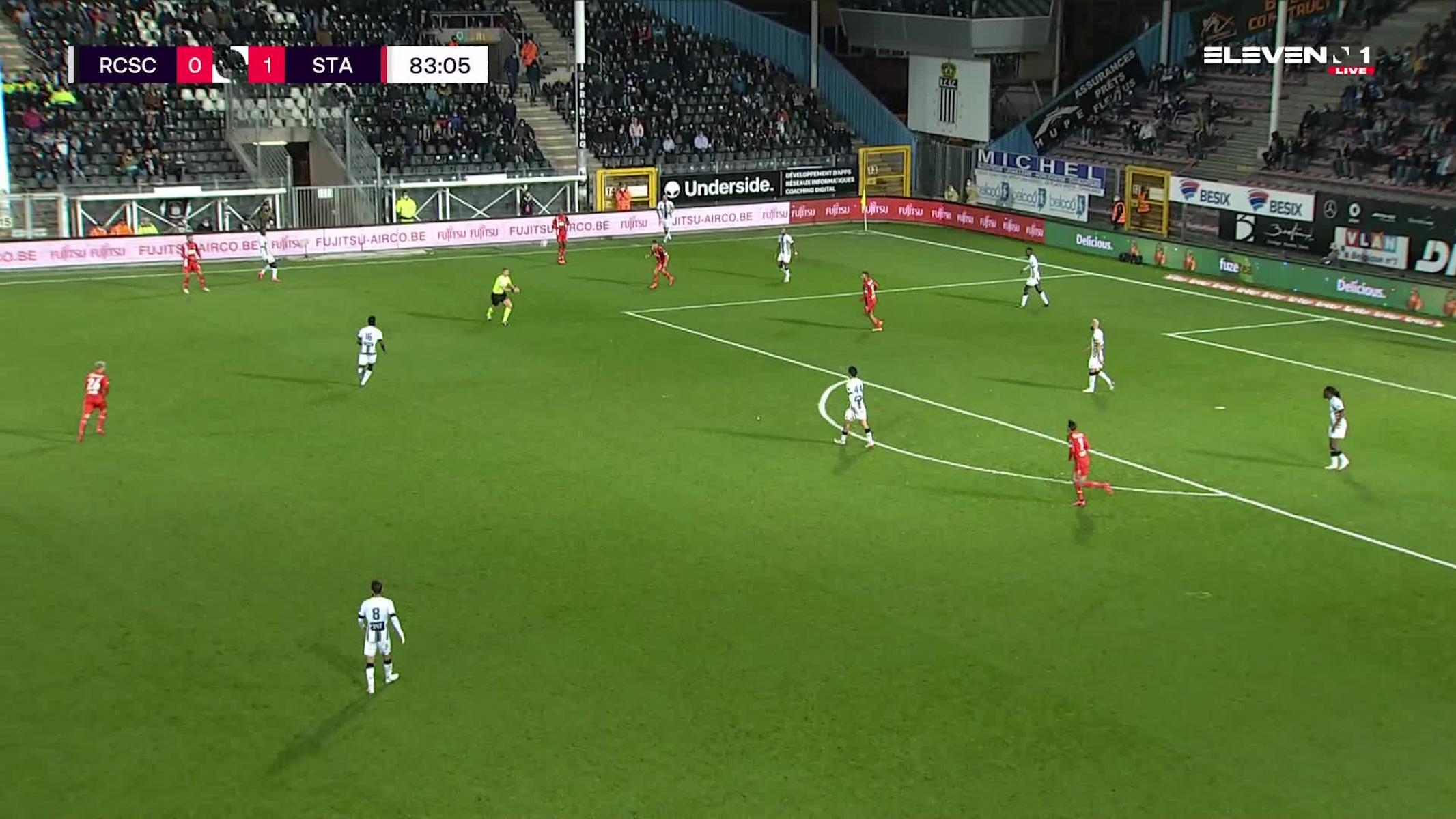 Doelpunt Nicolas Raskin (Sporting Charleroi vs. Standard de Liège)