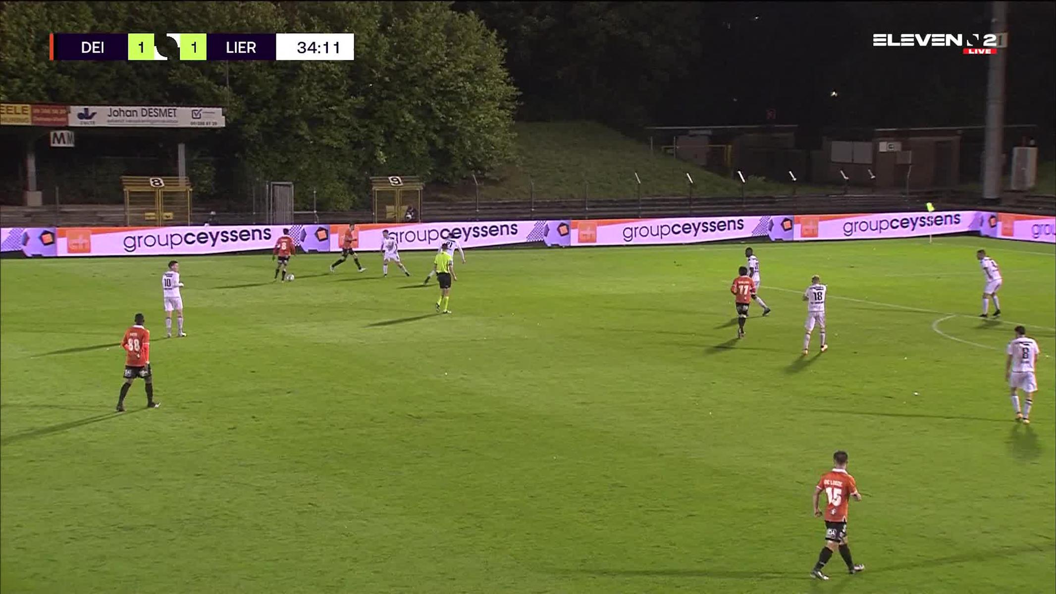 Doelpunt Michiel De Looze (KMSK Deinze vs. Lierse K)