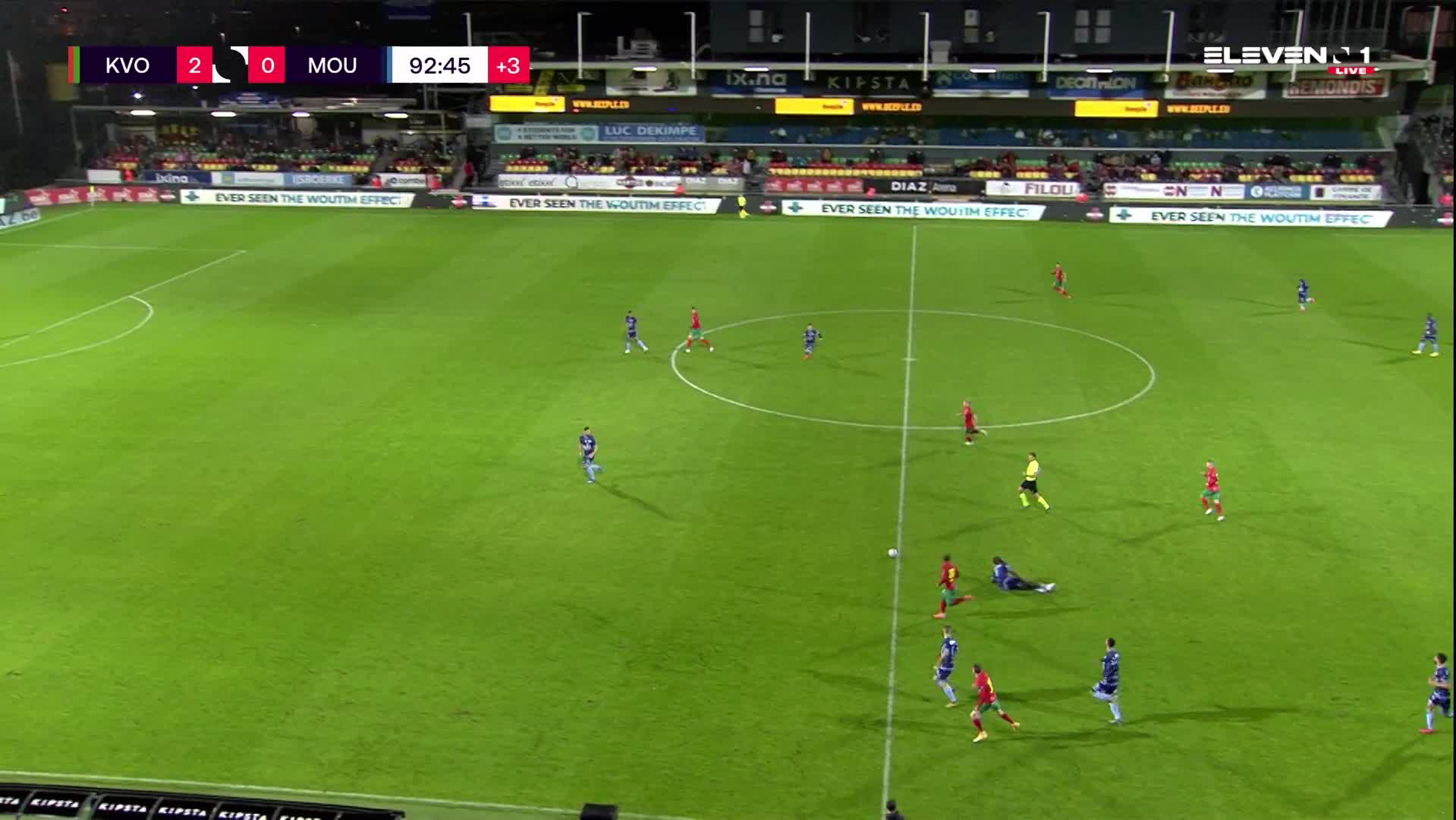Doelpunt Cameron McGeehan (KV Oostende vs. Royal Excel Mouscron)