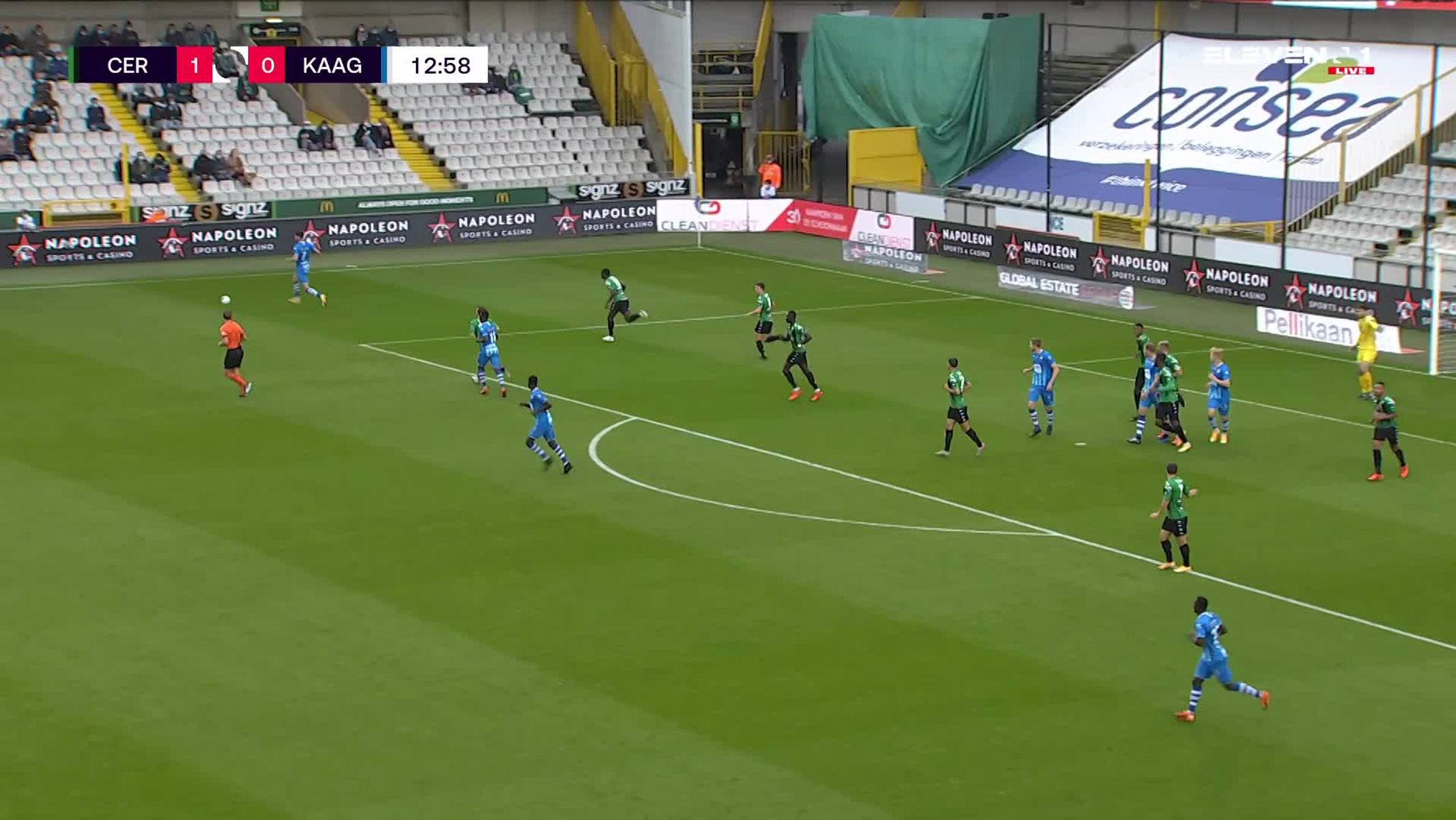 Doelpunt Andreas Hanche-Olsen (Cercle Brugge vs. KAA Gent)