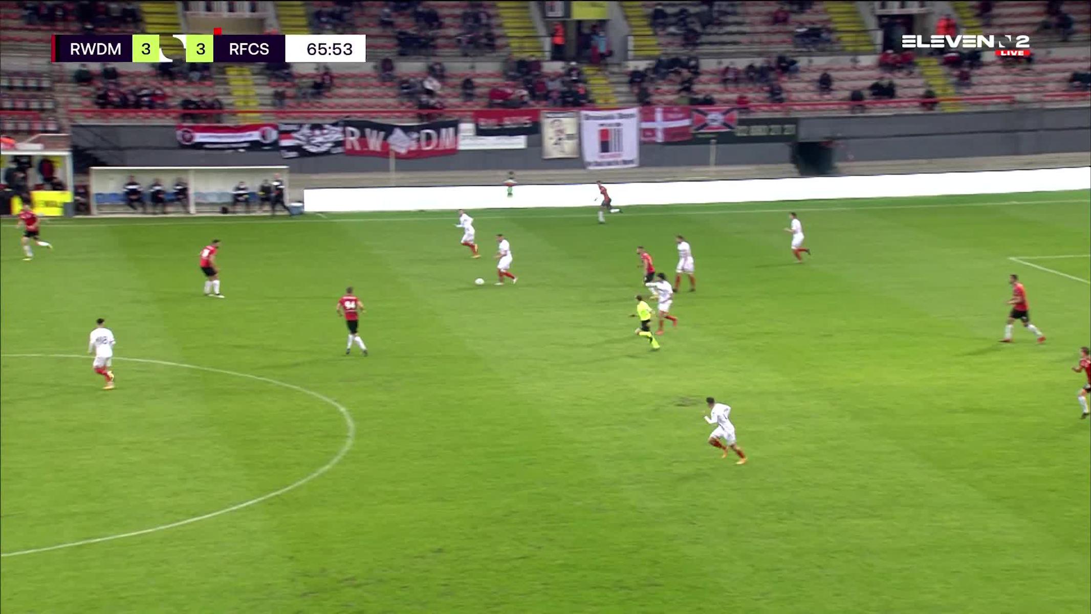 Doelpunt Antoine Bernier (RWDM vs. RFC Seraing)