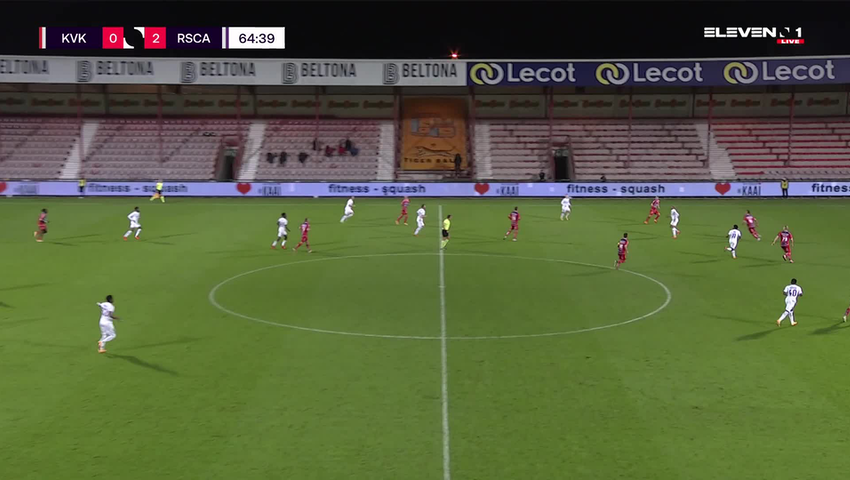Doelpunt Lukas Nmecha (KV Kortrijk vs. RSC Anderlecht)