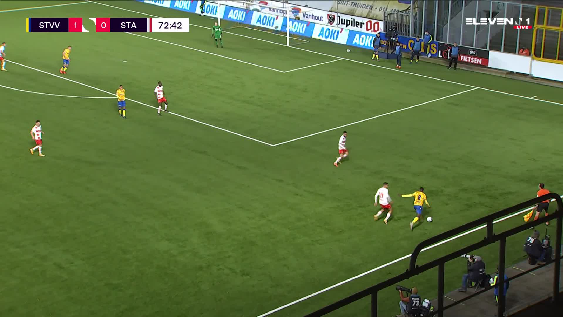 Doelpunt Steve De Ridder (STVV vs. Standard de Liège)