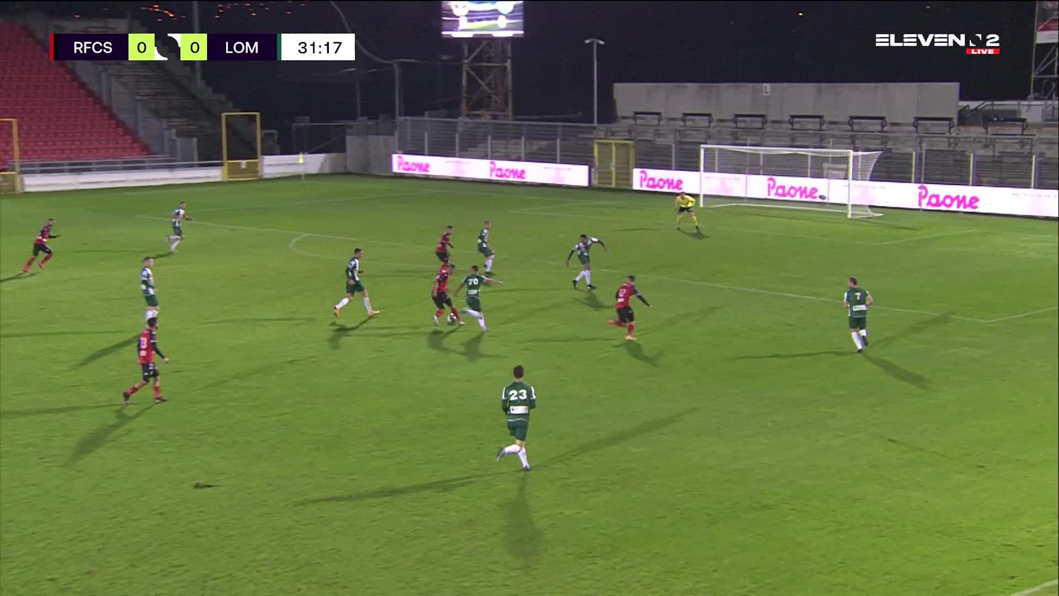 Doelpunt Sami Lahssaini (RFC Seraing vs. Lommel SK)
