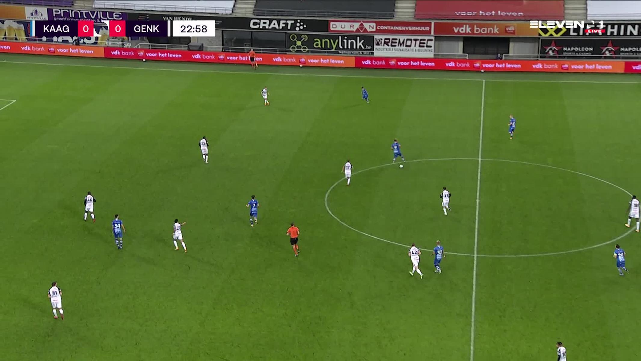 Doelpunt Alessio Castro-Montes (KAA Gent vs. KRC Genk)