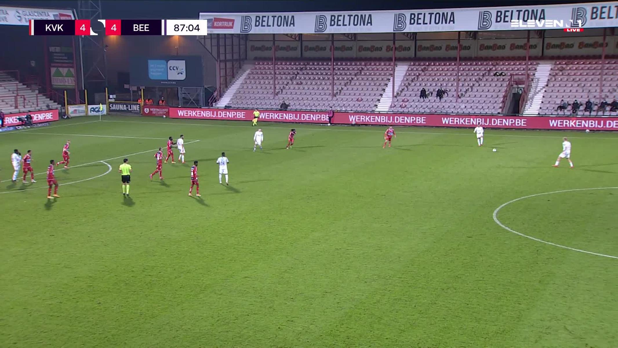 But Frederic Frans (KV Kortrijk vs. K. Beerschot V.A.)