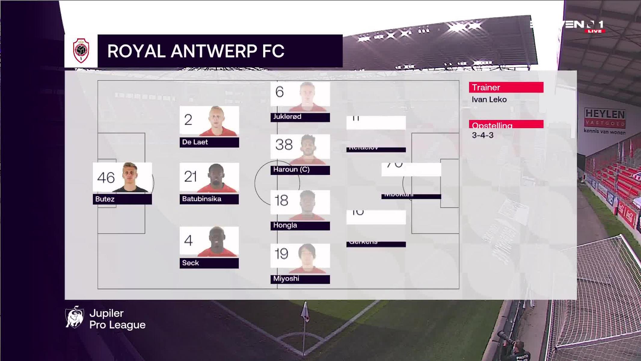 Samenvatting Royal Antwerp FC vs. Standard de Liège