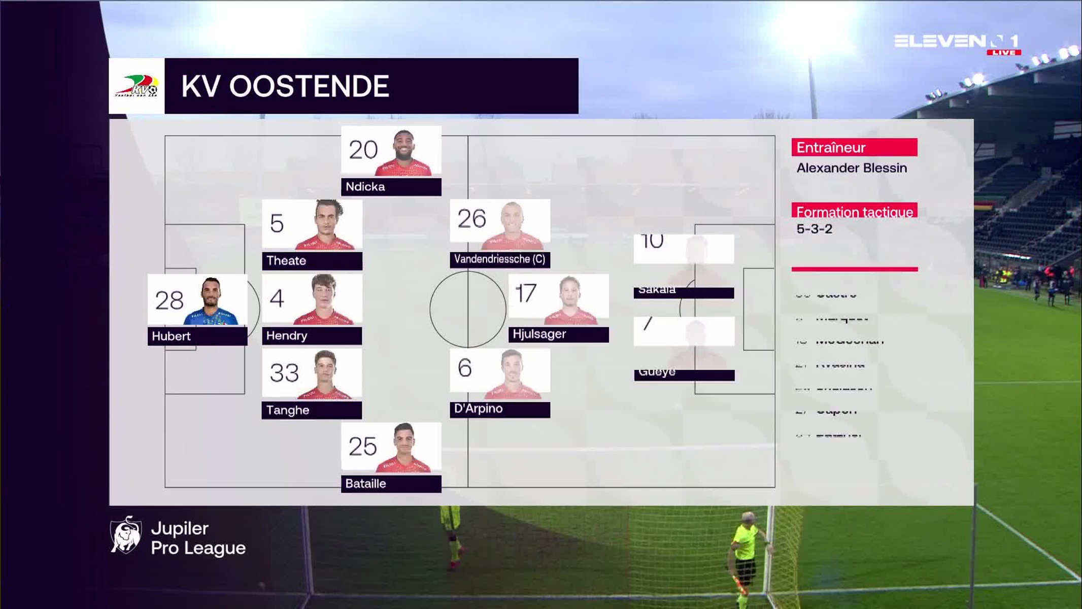 Résumé KV Oostende vs. Club Brugge