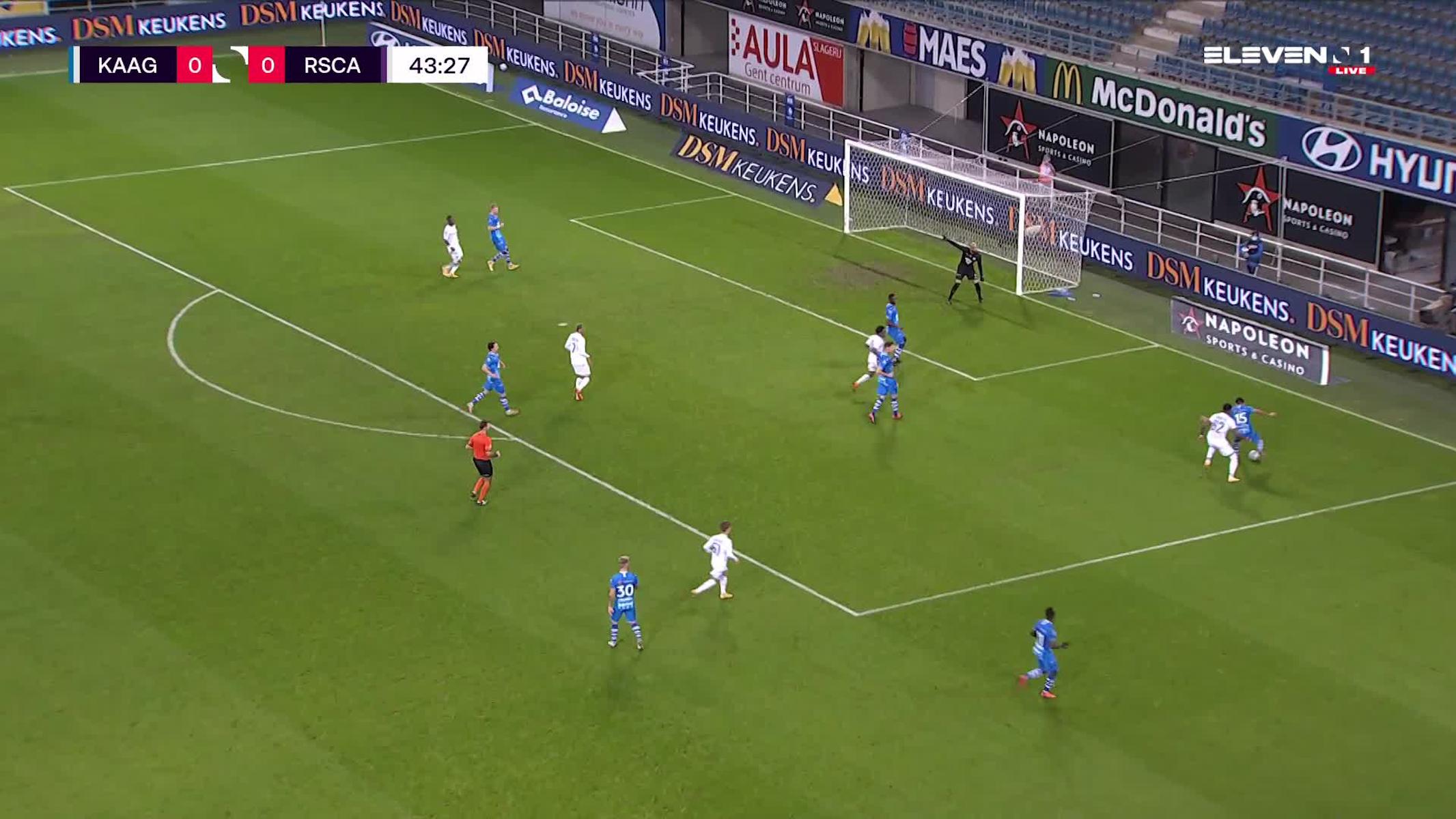 But Michael Murillo (KAA Gent vs. RSC Anderlecht)