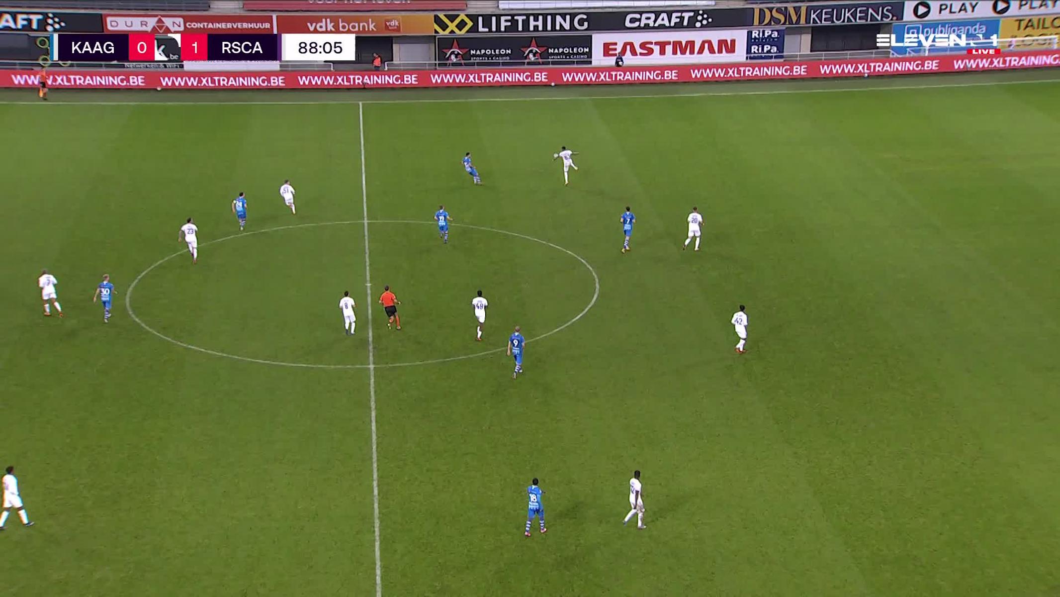 Doelpunt Roman Yaremchuk (KAA Gent vs. RSC Anderlecht)